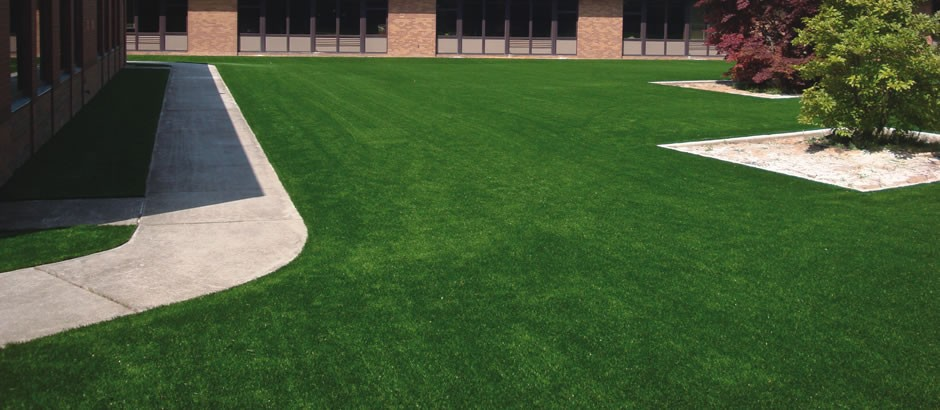 A-Turf used for outside courtyard at East Rochester Jr/Sr Hich School