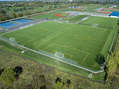 Niagara Falls Sports Complex, featuring 9 A-Turf fields and 711,000 s.f., was installed in 2015.